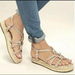 Athena flat sandals by Sam Edelman. Size 8